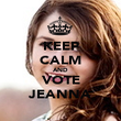 KEEP CALM AND VOTE JEANNA - Personalised Poster large