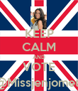 KEEP CALM AND VOTE @Missjenjomet  - Personalised Poster large