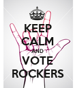 KEEP CALM AND VOTE ROCKERS - Personalised Poster large