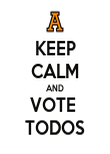 KEEP CALM AND VOTE  TODOS - Personalised Poster large