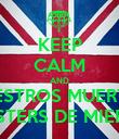 KEEP CALM AND VUESTROS MUERTOS HIPSTERS DE MIERDA - Personalised Poster large