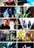 KEEP CALM AND WAIT FOR 9 MARCH - Personalised Poster large