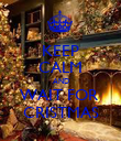 KEEP CALM AND WAIT FOR  CRISTMAS - Personalised Poster large