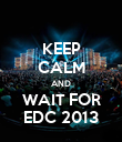KEEP CALM AND WAIT FOR EDC 2013 - Personalised Poster large