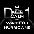 KEEP CALM AND WAIT FOR HURRICANE - Personalised Poster large