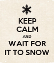 KEEP CALM AND WAIT FOR IT TO SNOW - Personalised Poster large