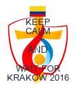 KEEP CALM AND WAIT FOR KRAKOW 2016 - Personalised Poster large