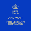 KEEP CALM AND WAIT  FOR LEETEUK'S COMEBACK - Personalised Poster large