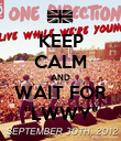 """KEEP CALM AND WAIT FOR """"LWWY"""" - Personalised Poster large"""