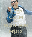 KEEP CALM AND WAIT FOR M$GX - Personalised Poster large
