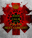 KEEP CALM AND WAIT FOR THE NEXT CONCERT! - Personalised Poster large