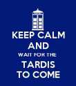 KEEP CALM AND WAIT FOR THE  TARDIS TO COME - Personalised Poster large
