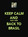 KEEP CALM AND WAIT NSN BACK TO BRASIL - Personalised Poster large
