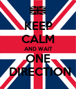 KEEP CALM AND WAIT ONE  DIRECTION - Personalised Poster large