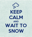 KEEP CALM AND WAIT TO SNOW - Personalised Poster large