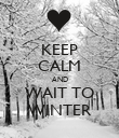KEEP CALM AND WAIT TO WINTER - Personalised Poster large