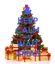 KEEP CALM AND WAIT XMAS - Personalised Poster large