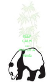 KEEP CALM AND WATCH A Panda - Personalised Poster large