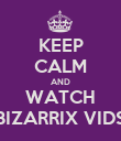 KEEP CALM AND WATCH BIZARRIX VIDS - Personalised Poster large