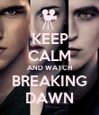 KEEP CALM AND WATCH BREAKING DAWN - Personalised Poster large