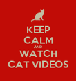 KEEP CALM AND WATCH CAT VIDEOS - Personalised Poster large