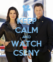 KEEP CALM AND WATCH CSI:NY - Personalised Poster large