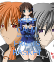 KEEP CALM AND WATCH FRUITS BASKET - Personalised Poster large
