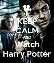 KEEP CALM AND Watch Harry Potter - Personalised Poster large