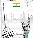 KEEP CALM AND WATCH INDIA - Personalised Poster large