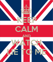 KEEP CALM AND WATCH LIE TO ME - Personalised Poster large