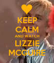 KEEP CALM AND WATCH LIZZIE MCGUIRE - Personalised Poster large
