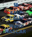 KEEP CALM AND Watch NASCAR  - Personalised Poster large