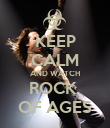 KEEP CALM AND WATCH ROCK  OF AGES - Personalised Poster large
