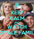 KEEP CALM AND WATCH ROYALE FAMILY - Personalised Poster large