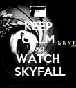 KEEP CALM AND WATCH  SKYFALL - Personalised Poster large