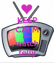 KEEP CALM AND watch telly - Personalised Poster large