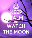 KEEP CALM AND WATCH THE MOON - Personalised Poster large