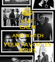 KEEP CALM AND WATCH YOUR FAVORITES SERIES - Personalised Poster large