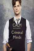 KEEP CALM and watcth Criminal Minds - Personalised Poster large