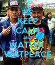 KEEP CALM AND WATLEK  WATPEACE - Personalised Poster large