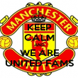 KEEP CALM AND WE ARE UNITED FAMS - Personalised Poster large