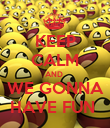 KEEP CALM AND  WE GONNA HAVE FUN  - Personalised Poster large