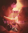 KEEP CALM AND WE'LL MISS YOU  - Personalised Poster large