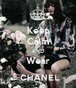 Keep Calm AND Wear  - Personalised Poster large
