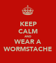 KEEP CALM AND WEAR A WORMSTACHE - Personalised Poster large