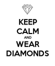 KEEP CALM AND WEAR DIAMONDS - Personalised Poster large