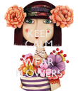 KEEP CALM AND WEAR FLOWERS - Personalised Poster large