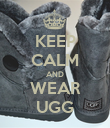 KEEP CALM AND WEAR UGG - Personalised Poster large