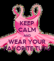 KEEP CALM AND WEAR YOUR FAVORITE TUTU - Personalised Poster large