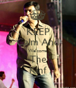 KEEP Calm And Welcome The Kinf - Personalised Poster large